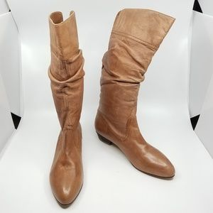 Nine West Leather Slouch Boots - 10